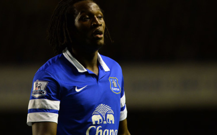 Everton's Belgian forward Romelu Lukaku plays during the English Premier League football match between Everton and Newcastle United at Goodison Park in Liverpool, on September 30, 2013. Picture: AFP