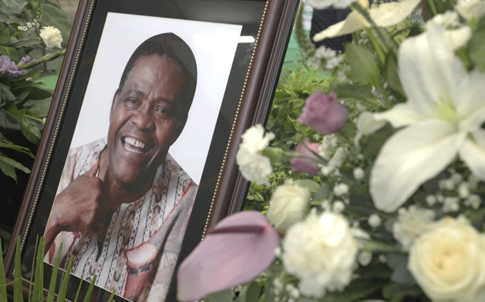 A portrait of Ladysmith Black Mambazo founder Dr Joseph Shabalala at his memorial service in Ladysmith on 18 February 2020. Picture: Xanderleigh Dookey/EWN