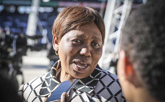 Basic Education Minister Angie Motshekga talks to the media during Youth Day celebrations at Orlando Stadium in Soweto on 16 June 2016. Picture: Reinart Toerien/EWN.