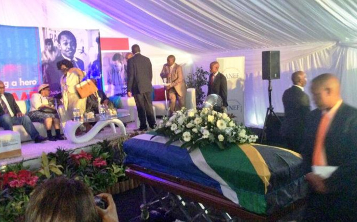 Nat Nakasa's remains touched down in Durban on 19 August, 2014 ending a five decade journey to bring the stalwart home. Picture: KZN Provincial Govt.