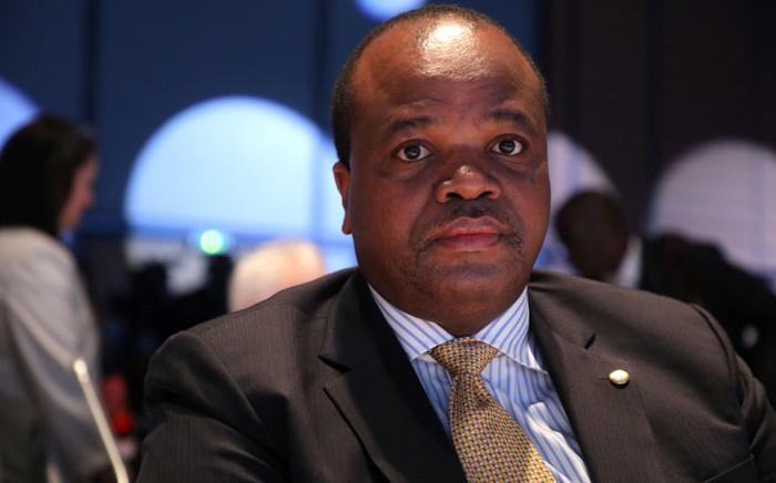 FILE: King Mswati III, head of state of eSwatini, arrives on the second day of the conference of Global Fund to Fight AIDS, tuberculosis and Malaria on 10 October 2019, in Lyon, France. Picture: AFP