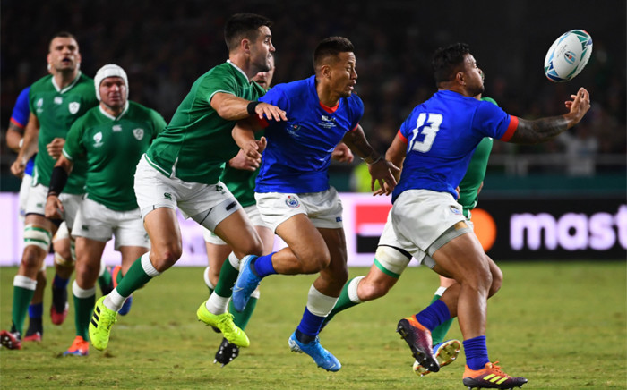 Japan 2019 Rugby World Cup Pool A match between Ireland and Samoa at the Fukuoka Hakatanomori Stadium in Fukuoka on 12 October 2019. Picture: @rugbyworldcup/Twitter.