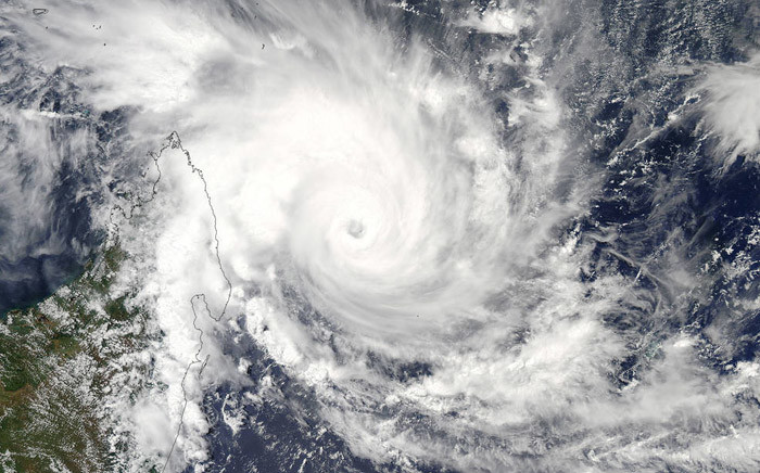Nasa's Aqua satellite captured this visible image of Tropical Cyclone Enawo approaching Madagascar. Picture: www.nasa.gov.