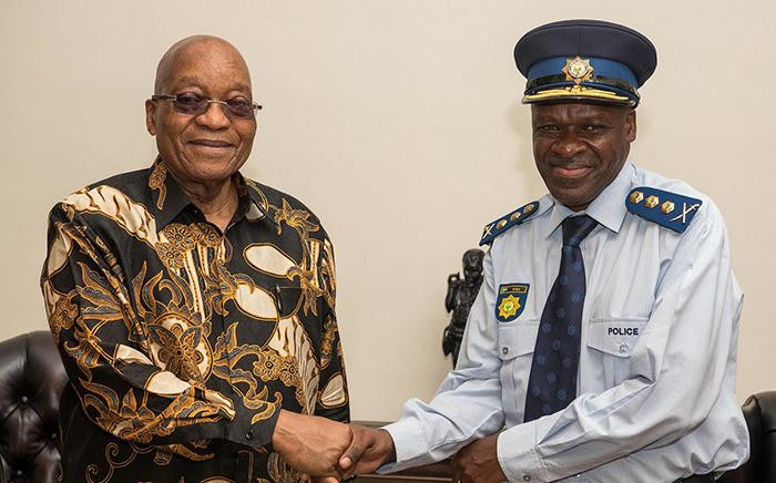 FILE: President Jacob Zuma with new SAPS National Commissioner General Khehla John Sitole. Picture: Picture GCIS