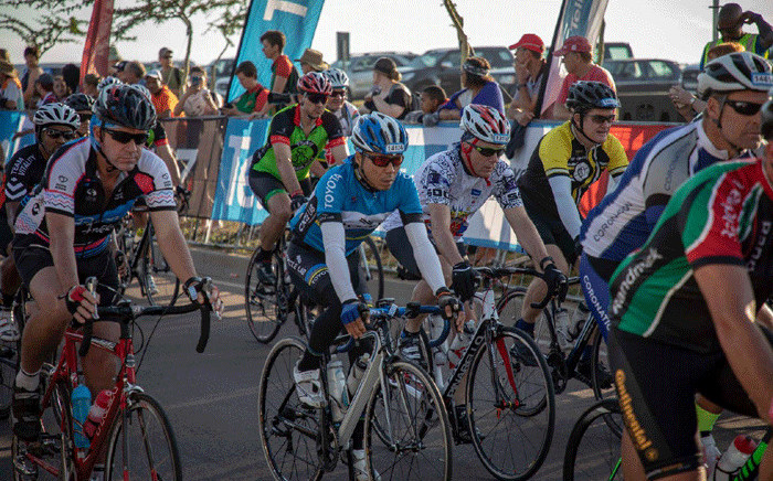 Cyclists at the start of 2018 edition of Telkom 947 Cycle Challenge. Picture: Facebook.