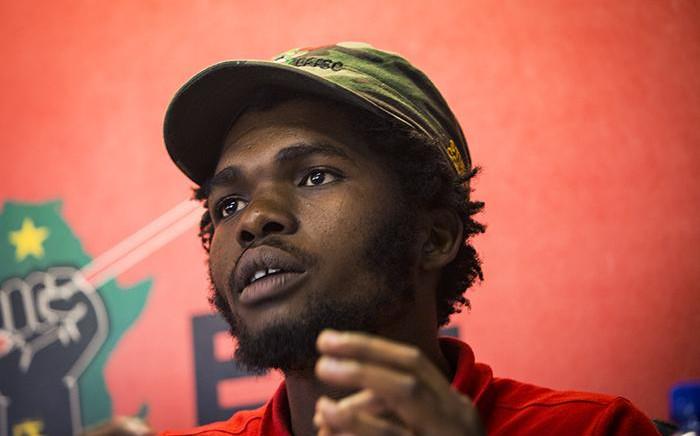 EFF Student Command President Phuti Peter Keetse. Picture : Sethembiso Zulu/EWN