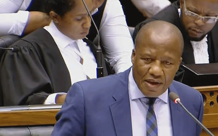 A screengrab shows ANC chief whip Jackson Mthembu on 19 February 2019.
