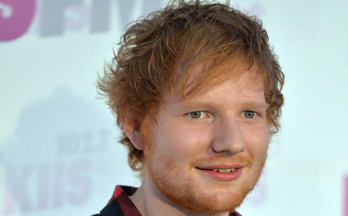 Singer Ed Sheeran. Picture: AFP.