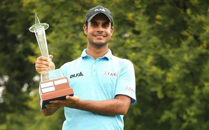 India's Shubhankar Sharma claimed a maiden European Tour title at the rain-hit Joburg Open on Monday 11 December 2017. Picture: Instagram/@Europeantour