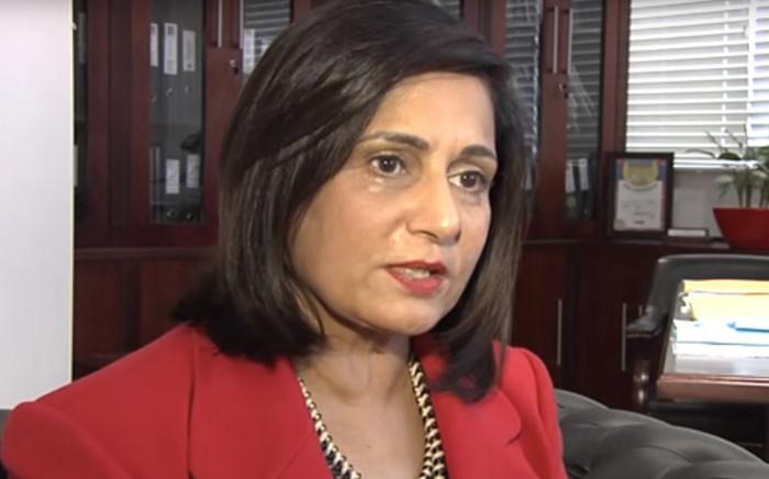 A YouTube screengrab of SA virologist Professor Gita Ramjee.