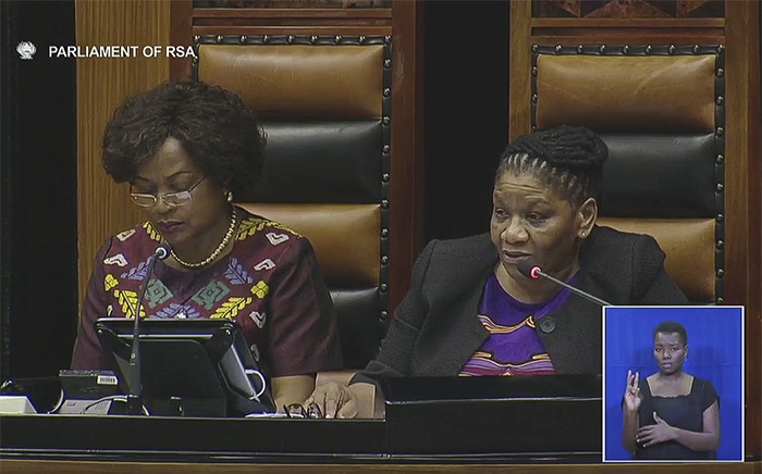 FILE: National Assembly speaker Baleka Mbete (left) and National Council of Provinces chair Thandi Modise (right). Picture: YouTube