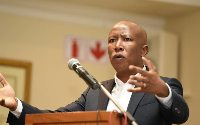 EFF leader Julius Malema addressing members of the Limpopo Circle of the Law Society of the Northern Provinces. Picture: @EFFSouthAfrica/Twitter