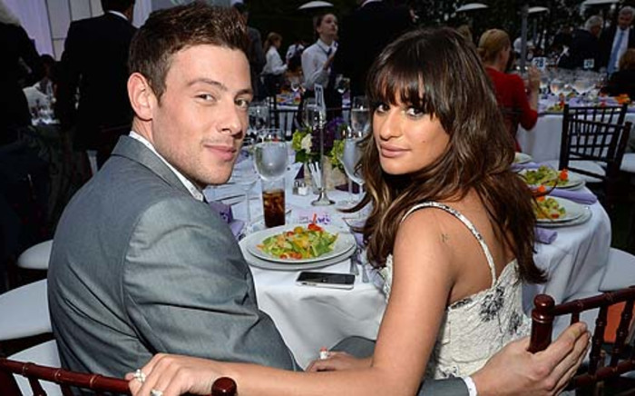 Cory Allan Michael Monteith and Lea Michele Sarfati, stars of Glee. Picture: AFP.