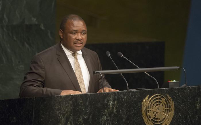 Lesotho's former deputy prime minister Mothetjoa Metsing. Picture: United Nations Photo.
