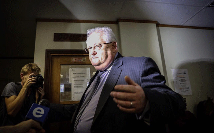 FILE: Angelo Agrizzi arrives at the Specialised Commercial Crimes Court in Pretoria on 6 February 2019. He and six others have been charged with corruption, money laundering and fraud. Picture: Abigail Javier/EWN
