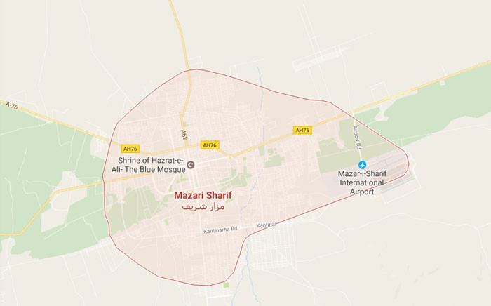 Mazar-i-Sharif, the third-largest city of Afghanistan. Picture: Google Maps.