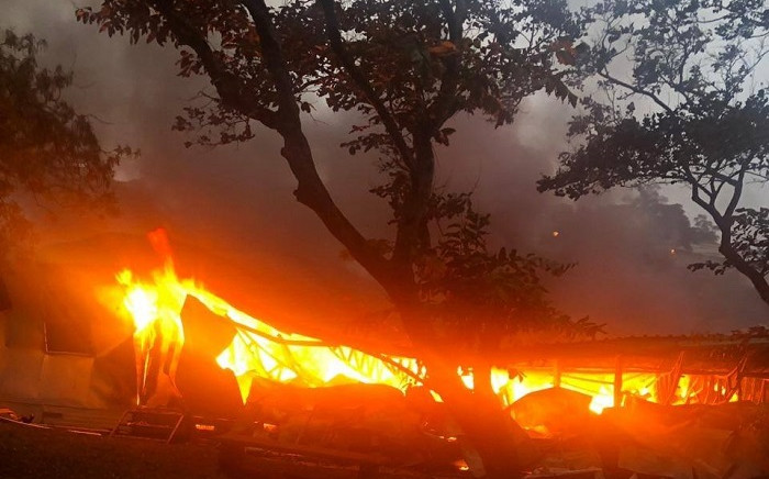 KZN CoGTA Department offices on fire. Picture: KZNCoGTA