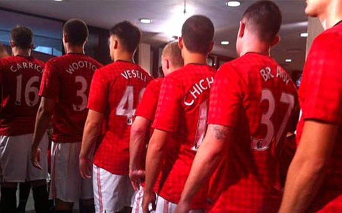 Manchester United players get ready to take on Amazulu at the Moses Mabhida stadium on 18 July 2012. Picture: Alexia Grigoratos via Twitter