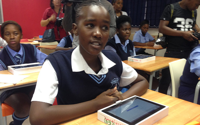 A Boitumelong Secondary School pupil listens attentively during a lesson, Picture: Vumani Mkhize/EWN.