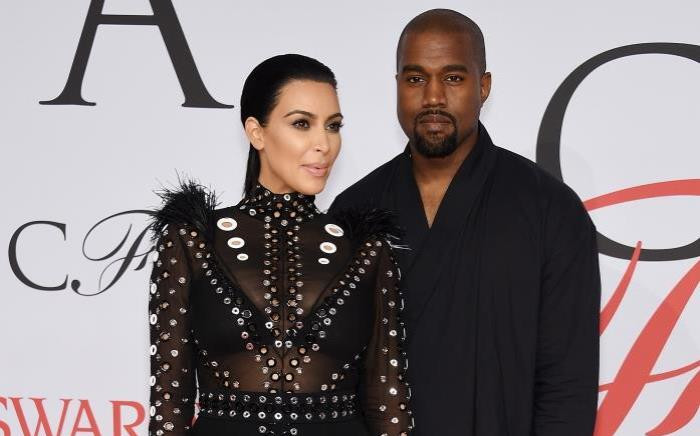 FILE: Kim Kardashian and rapper Kanye West attend the 2015 CFDA Fashion Awards on 1 June 2015 in New York City. Picture: Getty Images/AFP.