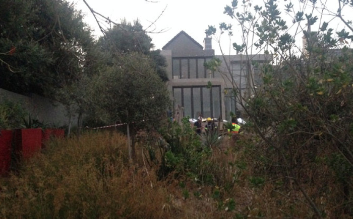 The scene where nine people were killed in a building that collapsed at the Meyersdal Eco Estate. Picture: Gia Nicolaides/EWN.