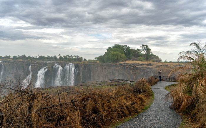 A tourist view the majestic Victoria Falls, a tourism attraction for Zimbabwe, Victoria Falls, on 13 November 2019.  Picture: AFP