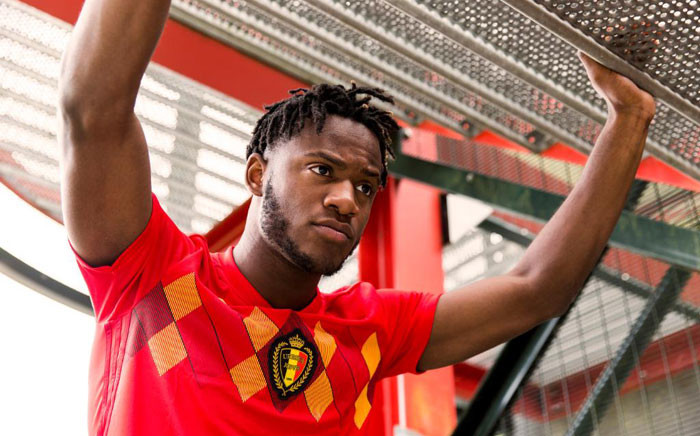Belgium player showcasing the new Fifa World Cup home jersey. Picture @adidasfootball.