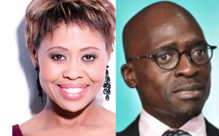 Media personality Redi Tlhabi (L) and Home Affairs Minister Malusi Gigaba (R). Picture: EWN.