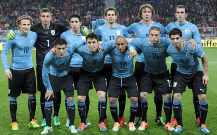 Oscar Tabarez believes his team are good enough to reach the latter stages of the World Cup in Brazil. Picture: AFP.