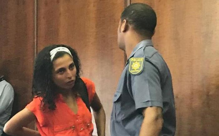 Abigail Ruiters (in red) the mother of Jeremiah Ruiters in the Western Cape High Court on 5 November 2019. Picture: Lauren Isaacs/EWN