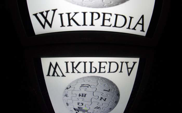 FILE: The Wikipedia logo is seen on a tablet screen on 4 December 2012 in Paris. Picture: AFP.