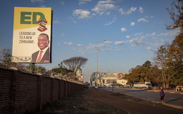 A Zanu-PF election poster in Harare. Picture: Thomas Holder/EWN