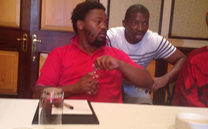 EFF MP Andile Mngxitama addresses the media at the Cape Sun Hotel in Cape Town on 12 February 2015. Picture: Lauren Isaacs/EWN