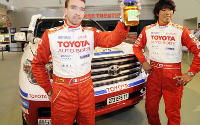 Toyota Auto Body driver Jun Mitsuhashi (right). Picture: Supplied.