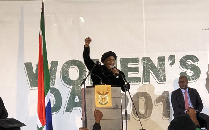 Minister of Women in the Presidency Bathabile Dlamini speaks at government's official Women's Day celebrations in the Western Cape. Picture: Twitter/@SAgovnews.