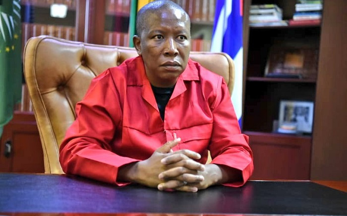 EFF leader Julius Malema responding to President Cyril Ramaphosa's Sona on Tuesday, 16 February 2021. Picture: @EFFSouthAfrica/Twitter.