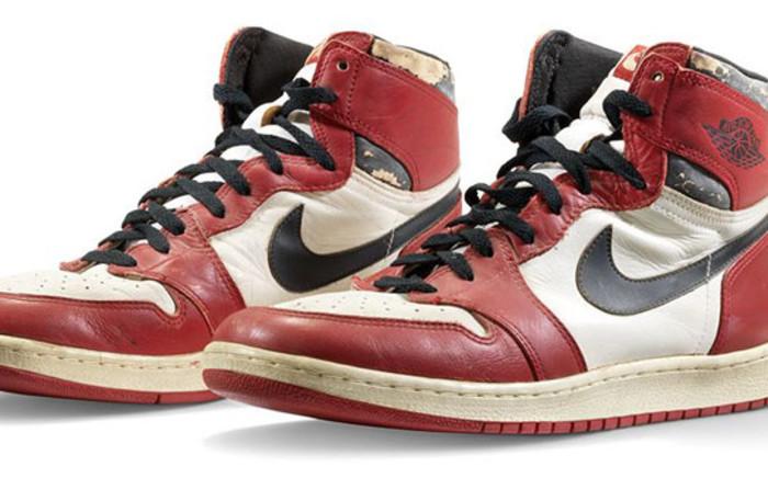 Michael Jordan's Air Jordan 1 Highs. Picture: www.christies.com