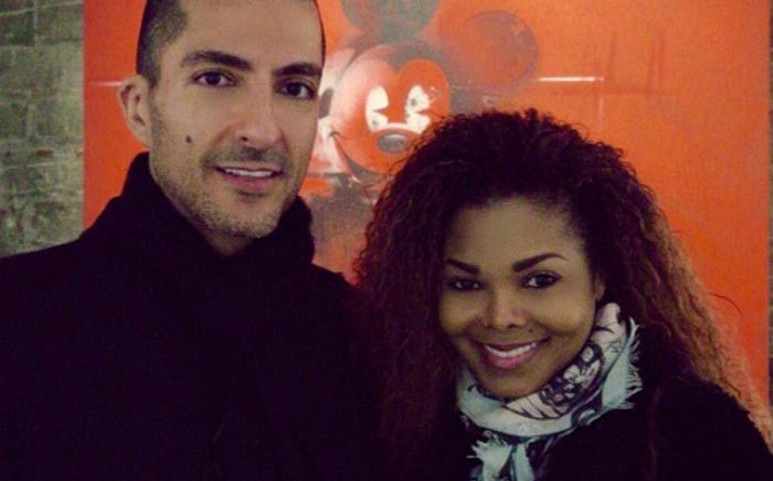 Wissam Al Mana and Janet Jackson at happier times. Picture: Instagram/@janetjackson