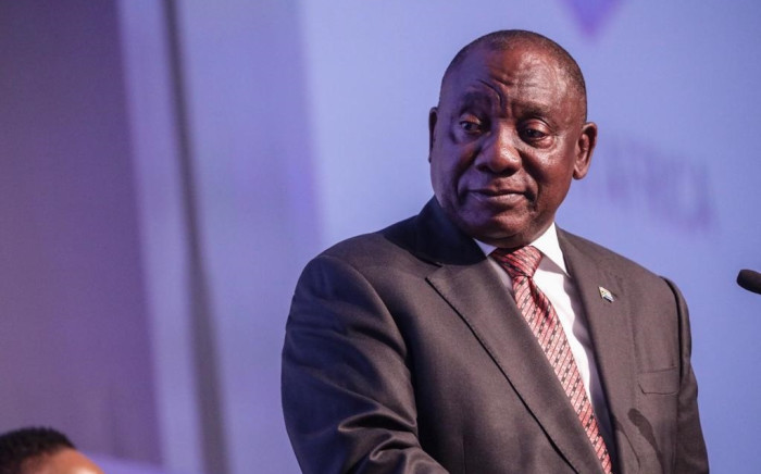 President Cyril Ramaphosa at the national results operation centre during the election results announcement on 11 May. Picture: Abigail Javier/EWN.