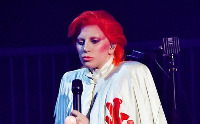 FILE: Lady Gaga's on stage performing her tribute to David Bowie at the 58th Grammy Awards. Picture: @ladygaga.