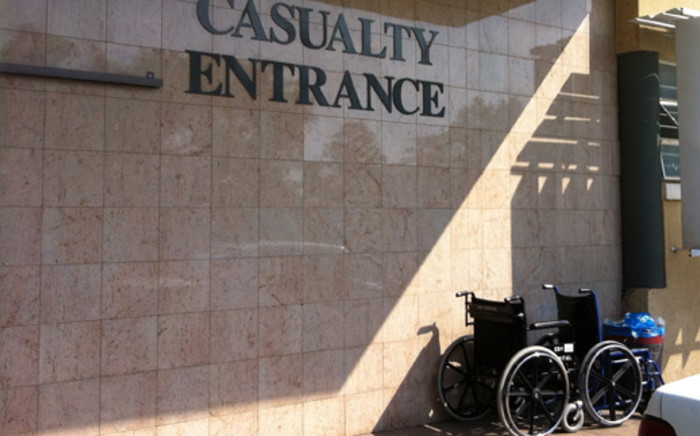 Hospital casualty entrance. Picture: EWN