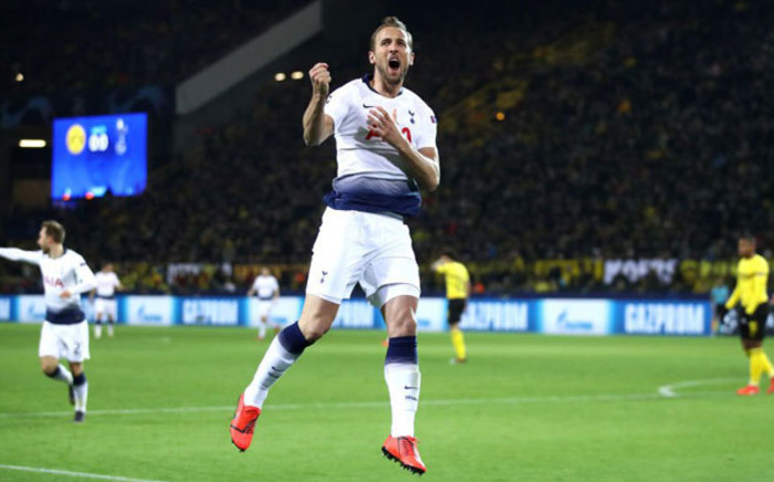 Tottenham's Harry Kane jumps for joy after scoring a goal in the UEFA Champions League match against Borussia Dortmund on 5 March 2019. Picture: @SpursOfficial/Twitter
