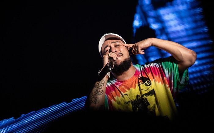 SA hip-hop artist AKA performs on stage at the Castle Lite unlocks concert on 17 June 2019. Picture: Kayleen Morgan/Eyewitness News