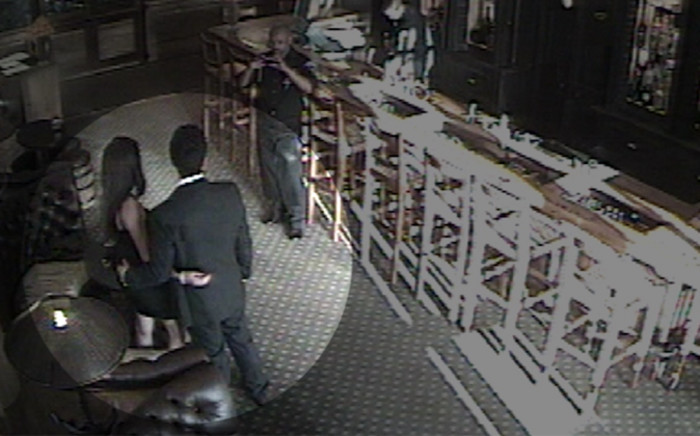 Shrien and Anni Dewani pose for photographs at the Cape Grace Hotel. The image is a screen grab taken from the hotel's CCTV surveilance system. Picture: Supplied