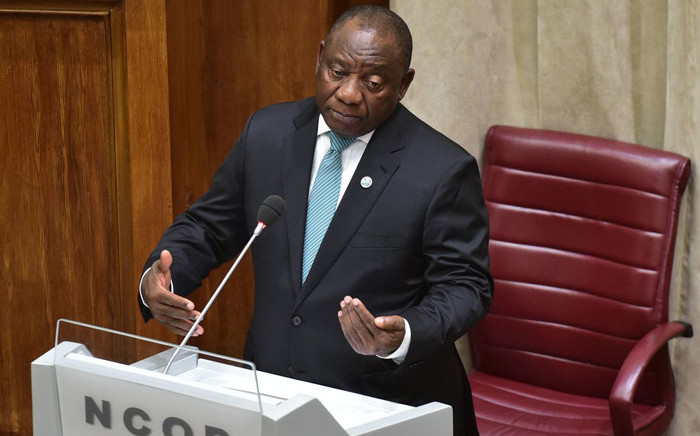 President Cyril Ramaphosa replying to questions in the National Council of Provinces on 11 September 2018. Picture: @PresidencyZA/Twitter
