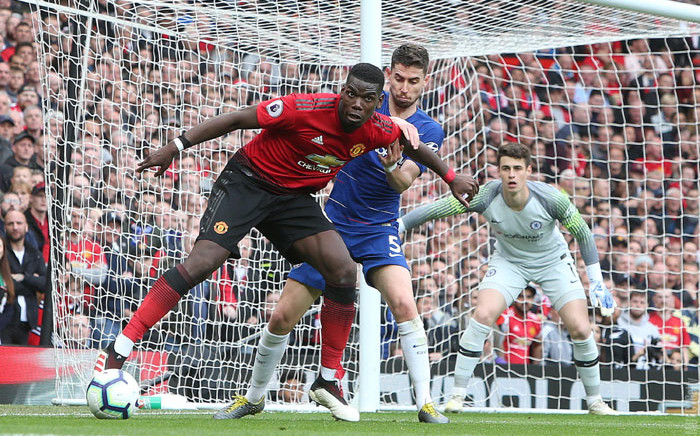 Manchester United's Paul Pogba (foreground) in action again his Chelsea opponent during their English Premier League at Old Trafford in Manchester on 11 August 2019. Picture: @ManUtd/Twitter