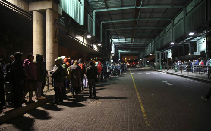 FILE: Long queues could be seen at a Mitchells Plain bus terminal in Cape Town on 18 April 2018 as commuters waited for alternative transport to get them to work amid a nationwide bus strike. Picture: Cindy Archillies/EWN
