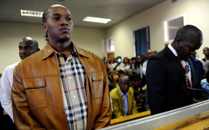 "Musician Molemo ""Jub Jub"" Maarohanye and Themba Tshabalala are seen in the dock at the Protea Magistrate's Court in Soweto on 16 October 2012. Picture: Werner Beukes/SAPA"