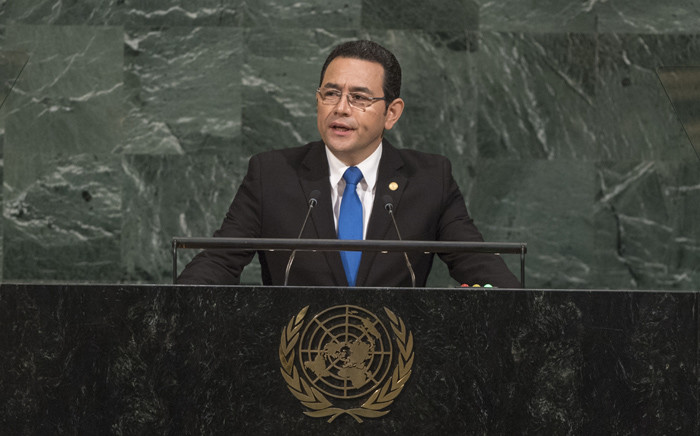 Guatemalan President Jimmy Morales. Picture: United Nations Photo.