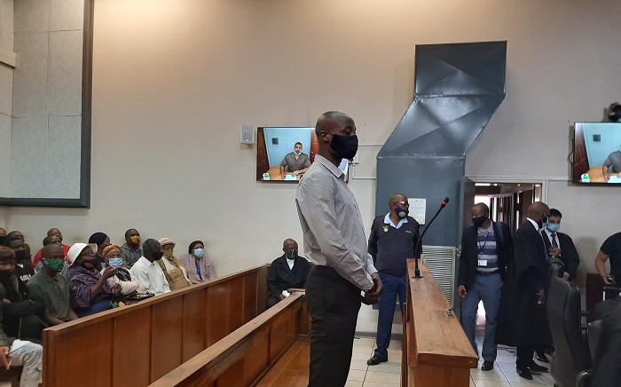 Murder accused in the Nathaniel Julies case, Voster Netshiongolo, in court on Tuesday, 8 December 2020. Picture: Kgomotso Modise/EWN